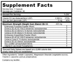 cb-1 weight gain ingredients